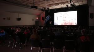 Salle de projection au Théâtre La Taverne
